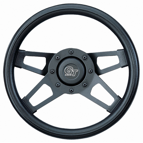 Grant 1904 Billet Series Leather Steering Wheel with Jeep Logo and Install Kit